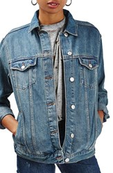 Topshop Women's Moto Western Denim Jacket