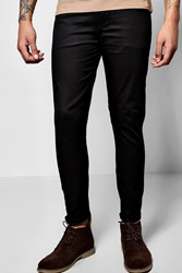 Boohoo Stretch Chino Trouser Black