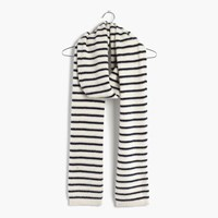 Madewell Striped Cashmere Scarf Antique Cream