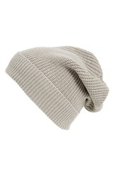 Women's Phase 3 'Stand Up' Basket Knit Slouchy Beanie Grey Grey Flint