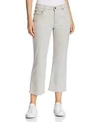 Eileen Fisher Petites Flared Cropped Jeans In Sunbleached Gray