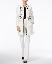 Inc International Concepts Petite Piped Car Coat Only At Macy's Washed White