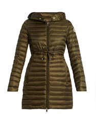 Moncler Barbel Hooded Down Coat Khaki