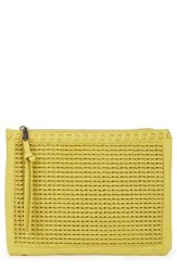 Sole Society Market Wristlet Clutch Yellow Chartreuse
