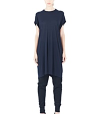 Rick Owens Long T Shirt Dress Navy