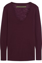 Enza Costa Cashmere Sweater Red