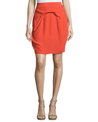 See By Chloe Pleated Pencil Skirt Red