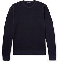 Hackett London Textured Wool Sweater Blue
