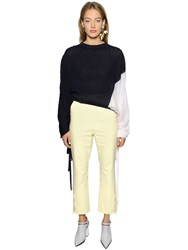 Marni Asymmetric Silk And Cotton Knit Sweater