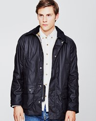 Barbour Ashby Waxed Field Jacket Navy