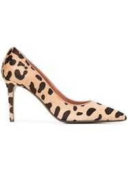 L'autre Chose Animal Print Court Shoes Black