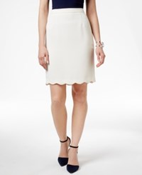 Cece By Cynthia Steffe Scalloped Hem Pencil Skirt