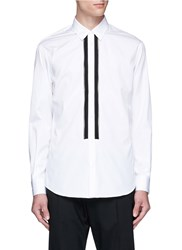 Dsquared Zipper Placket Cotton Poplin Shirt White