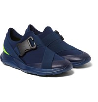 Christopher Kane Neoprene Leather And Rubber Sneakers