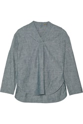 Adam By Adam Lippes Chambray Top Blue