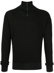 Dolce And Gabbana Slim Fit Zip Up Pullover Black
