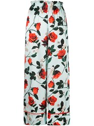 Alice Olivia Elba Paper Bag Trousers Blue