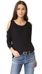 Chaser Cold Shoulder Dolman Top Black