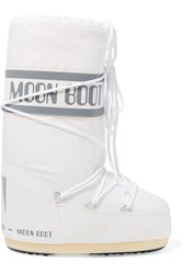 Moon Boot Shell And Faux Leather Snow Boots White