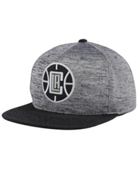 Mitchell And Ness Los Angeles Clippers Space Knit Snapback Cap Gray Heather