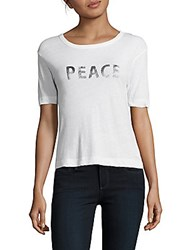 Zadig And Voltaire Kanye Printed Boatneck Tee White