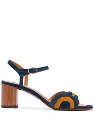 Chie Mihara 65Mm Panelled Sandals Blue