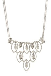Lois Hill Sterling Silver Multi Charm Bib Necklace Metallic