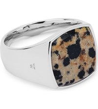 Tom Wood Cushion Silver And Leopard Stone Ring