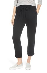 Caslon Off Duty Tulip Hem Sweatpants Black