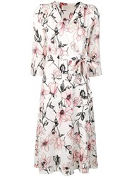 Goat Glenda Floral Wrap Dress Neutrals