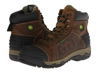 John Deere Wct Ii Waterproof 6 Lace Up Aluminum Alloy Toe Tan Soggy Men's Work Lace Up Boots Brown