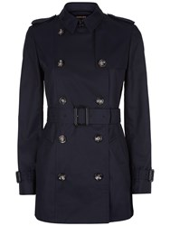 Jaeger Short Classic Trench Coat Midnight