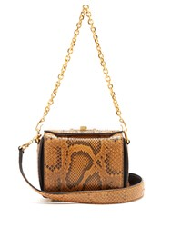 Alexander Mcqueen Box 16 Python Shoulder Bag Tan Multi