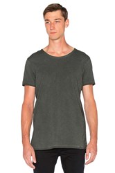 Scotch And Soda Oil Washed Crewneck Tee Army