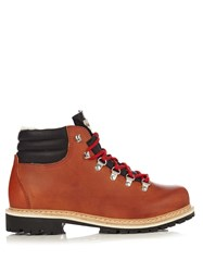 Montelliana Margherita Leather Apres Ski Boots Tan
