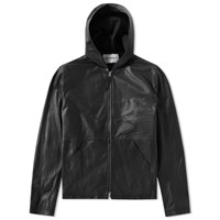 Our Legacy Leather Hooded Jacket Black