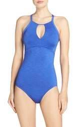 Nike Women's Iconic Heather High Neck One Piece Swimsuit