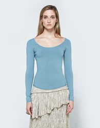 Christophe Lemaire Second Skin Sweater Frosted Blue