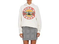 Madeworn Women's Guns N Roses Cotton Blend Hoodie Ivory White