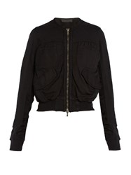 Haider Ackermann Perth Cropped Cotton Bomber Jacket Black