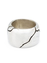 Henson Thick Cracked Ring Grey