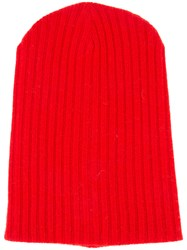The Elder Statesman Cashmere Summer Cap Red