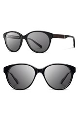 Women's Shwood 'Madison' 54Mm Round Sunglasses Black Ebony Grey