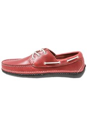 Quoddy Boat Shoes Pompeii Red Black