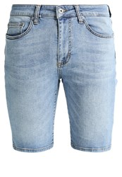 Pier One Denim Shorts Blue Denim