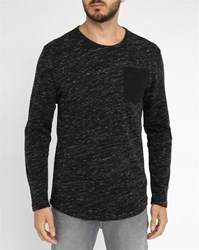 G Star Mottled Black Xauri Pocket Round Neck Sweater