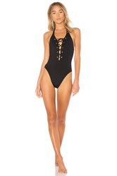 Seafolly Lace Up One Piece Black
