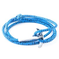 Anchor And Crew Bruce Rope And Silver Bracelet Blue Noir