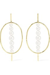 Ippolita Nova 18 Karat Gold Pearl Earrings