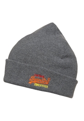 Superdry Basic Hat Dark Marl Mottled Grey